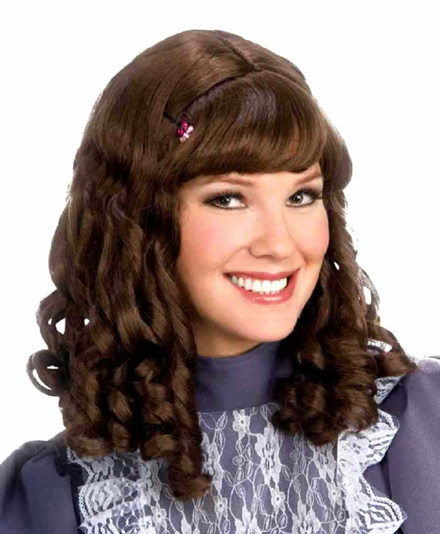 Island Girl Wig Curly Curls Brown Dress Up Halloween Adult Costume Accessory
