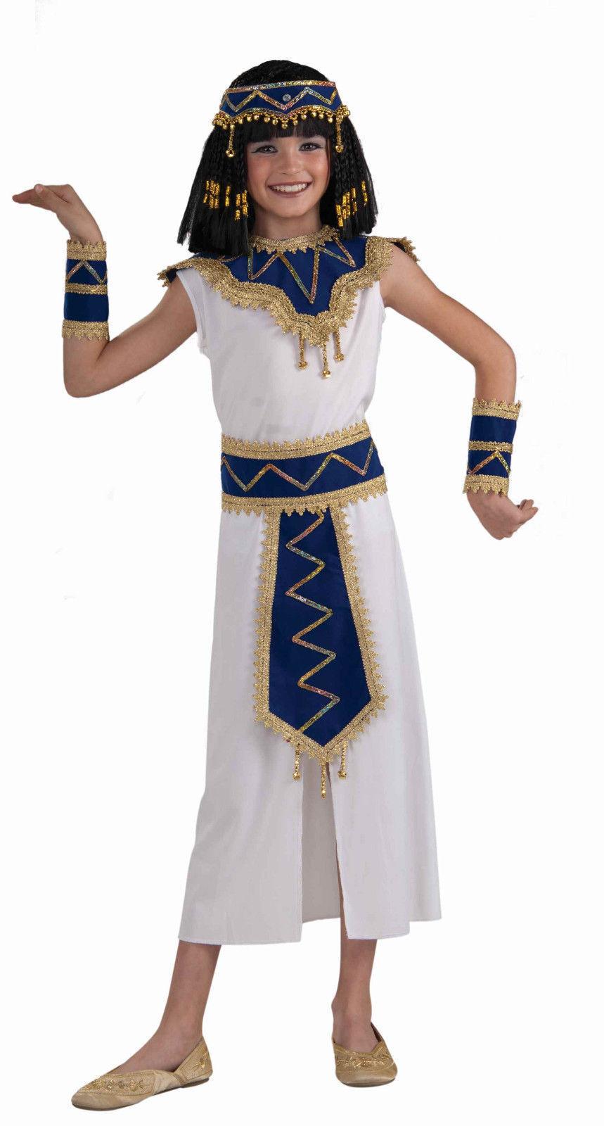 Princess Of The Pyramids Costume Child Cleopatra Girl Roman Greek Medium 8 10 Ebay