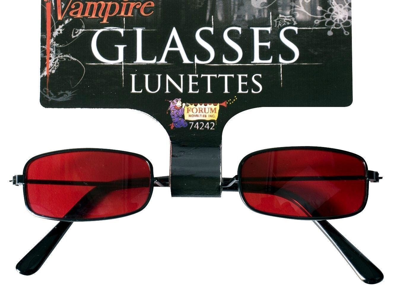 ba3bce8f05 Gothic Vampire Black Red Sunglasses Halloween Dracula Costume ...