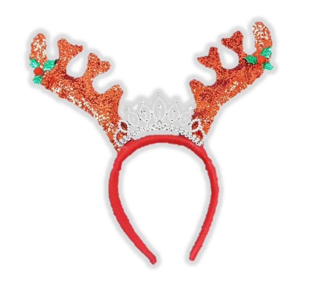 NEW Glitter Reindeer Antlers Xmas Winter Funny Fancy Dress Christmas Accessory