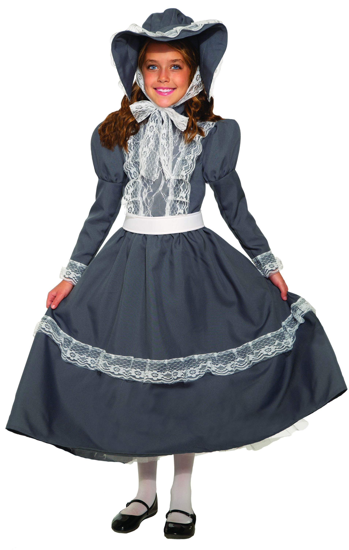 Prairie Girl American Pioneer Dress 19th Century Historical Child Costume SM-XL