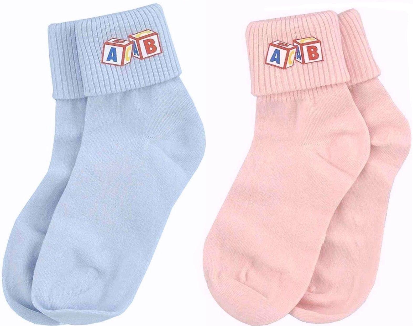 Adult Big Baby Ankle Socks Men Women Pink Blue Funny Costume
