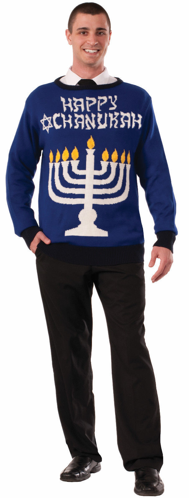 Happy Chanukah Hanukkah Ugly Christmas Sweater Jewish Holiday ...