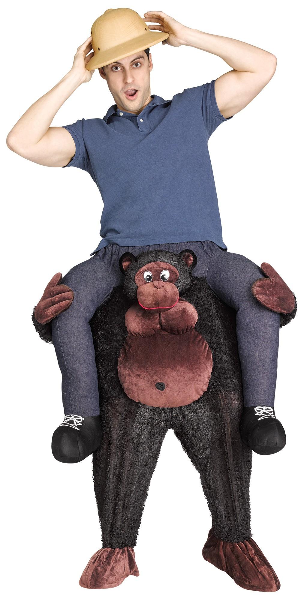 Piggy Back Monkey Halloween Chimp Mascot Fancy Dress Costume Carry Novelty