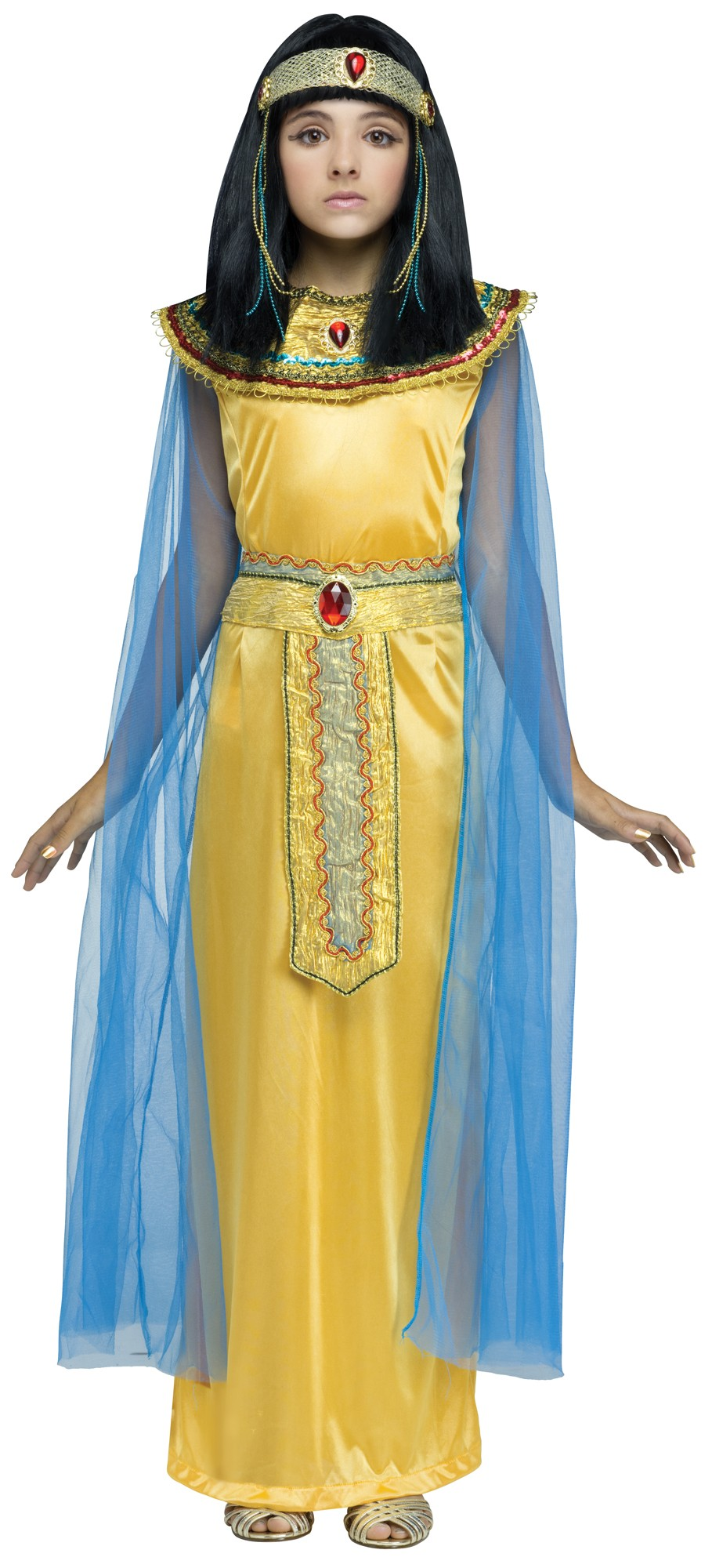 Responsive image  sc 1 st  eBay & Girls Golden Cleo Halloween Costume Fancy Dress Cleopatra Egyptian ...