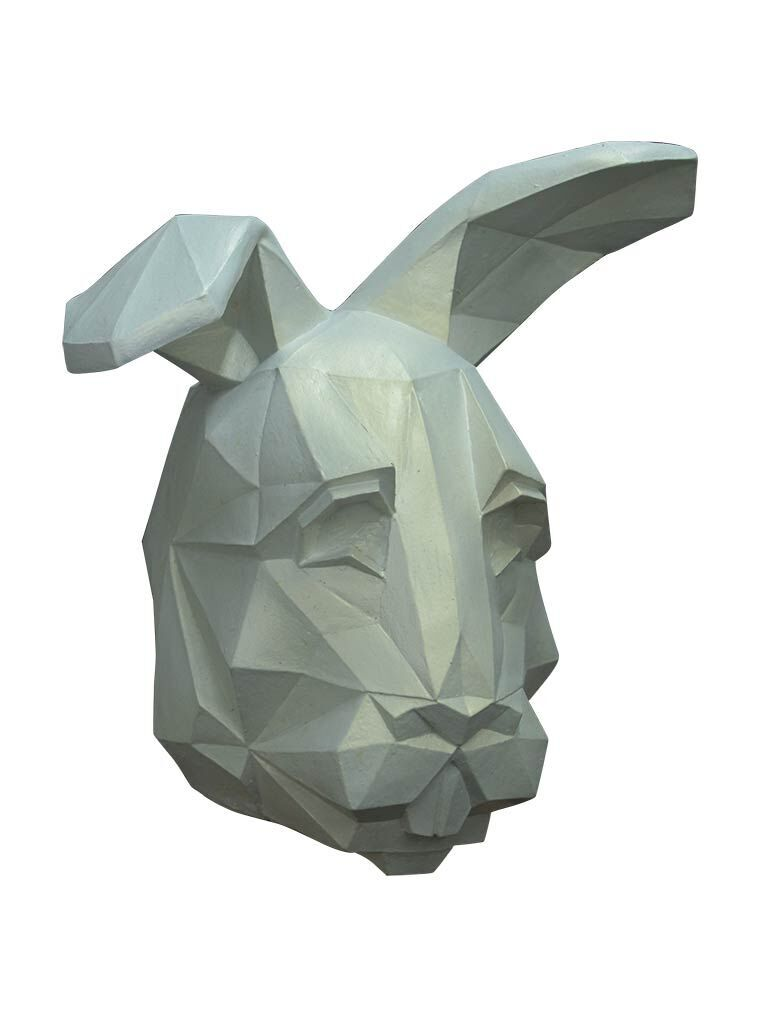 Details about Low-Poly Polygon White Rabbit Adult Latex Mask 3D Cosplay  Costume Accessory New