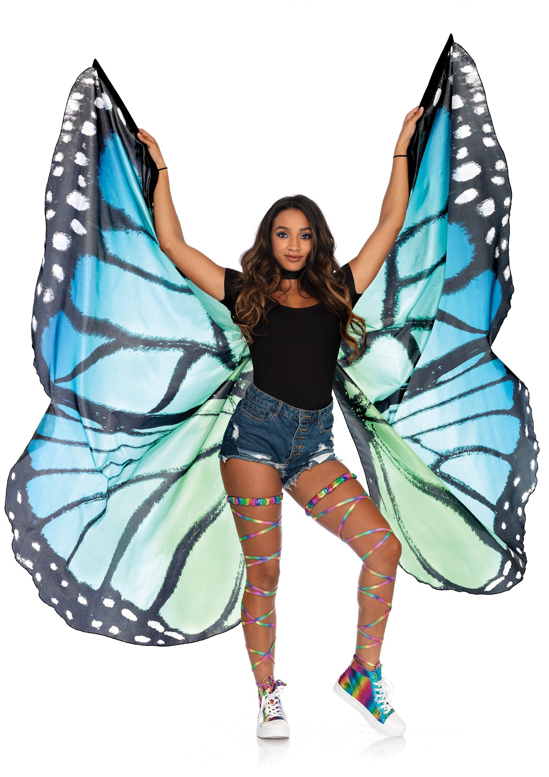 One Size Leg Avenue Festival Butterfly Wing Halter Cape LA-A2782