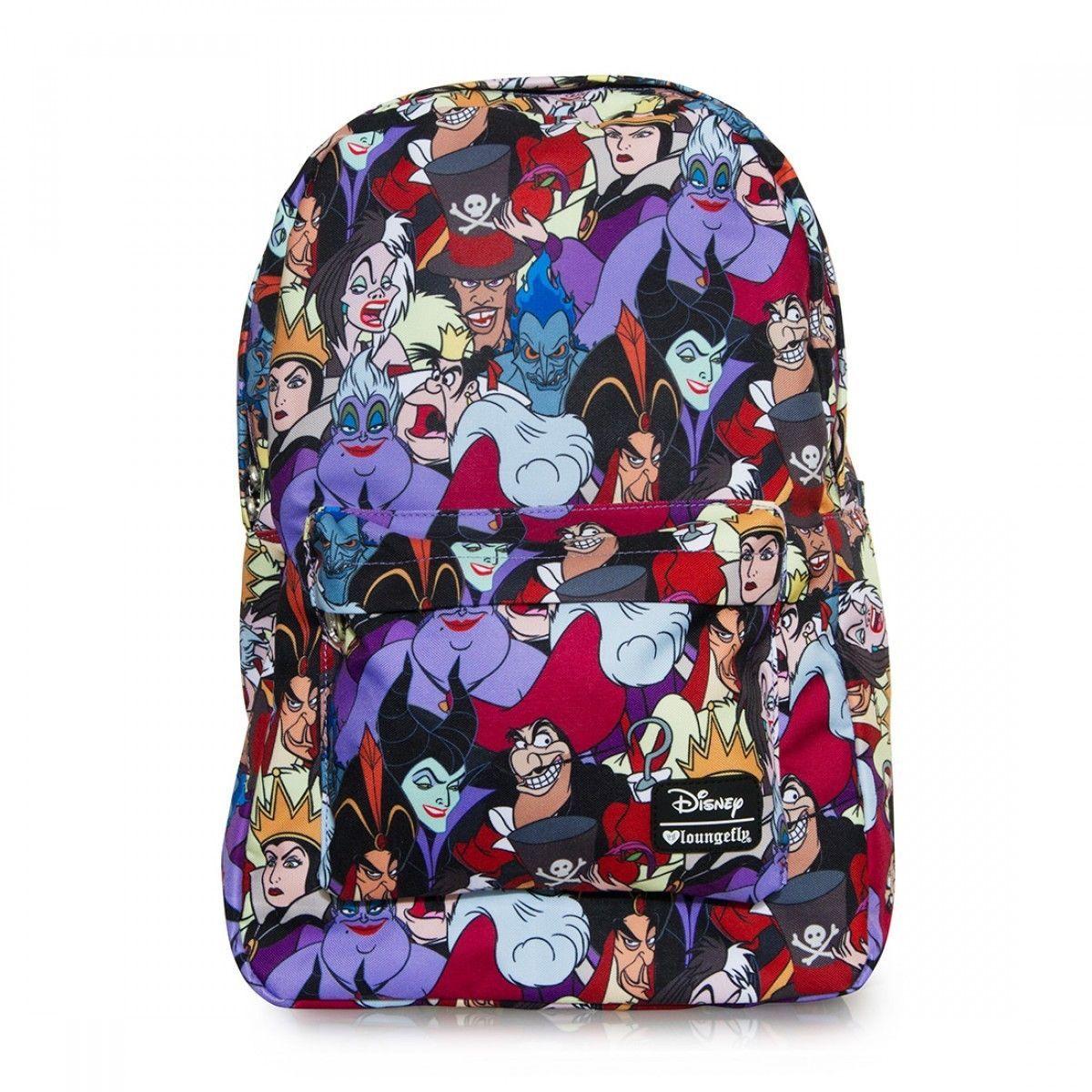 91beacf9e5b Disney Villains Backpack School Bag Evil Queen Cruella De Vil ...
