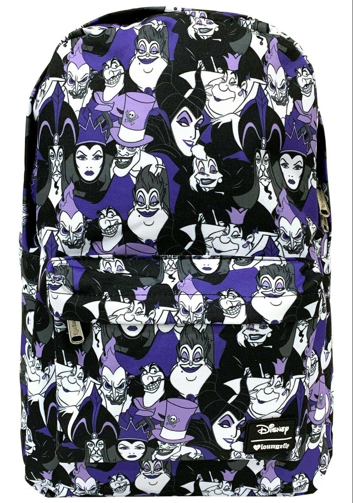 12f5d4a0bc6 Disney Villains Backpack School Bag Ursula Cruella Captain Hook Evil ...