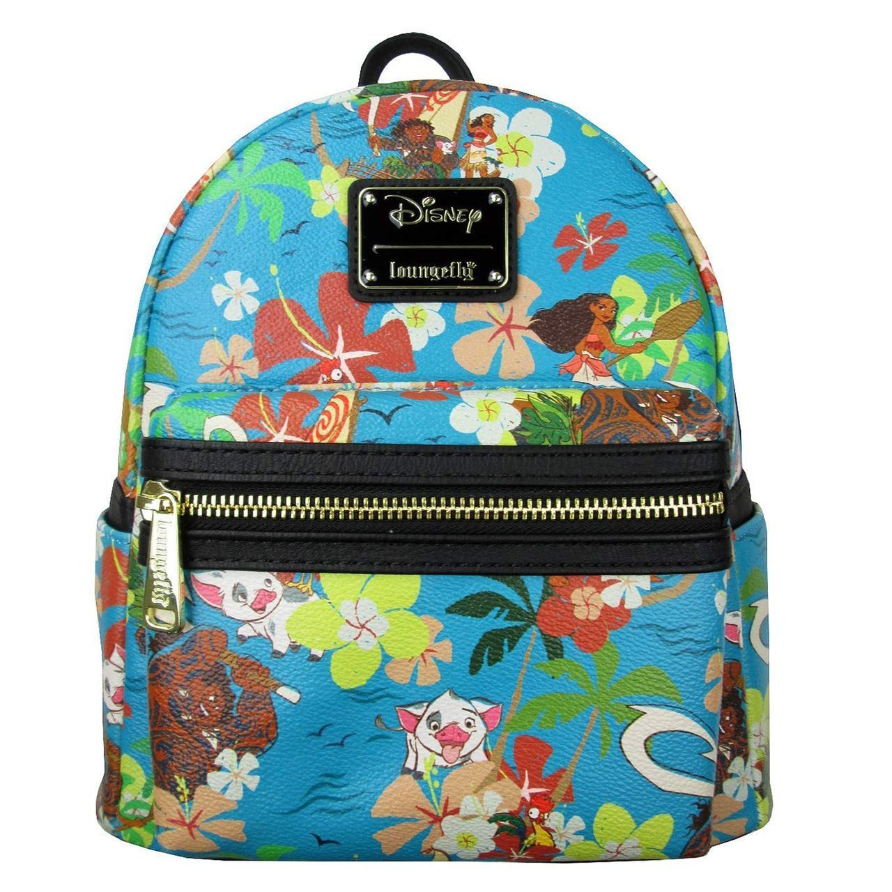 67461e355d Deluxe Loungefly Disney Moana Floral Mini Backpack PU Leather Purse ...