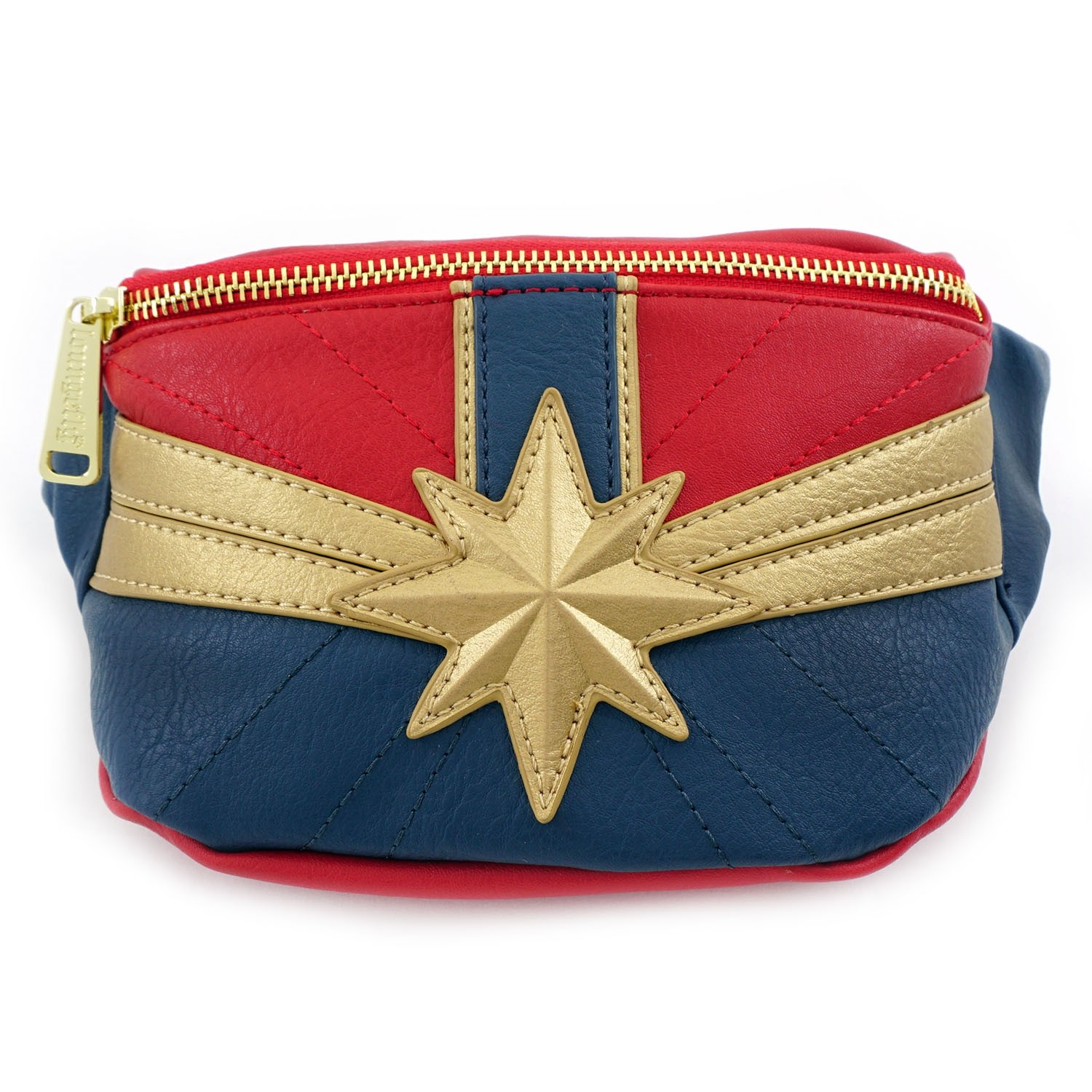 cc15411b72d7 Details about Loungefly X Marvel Comics Captain Marvel Fanny Pack Waist Bag  Purse Suit-Up