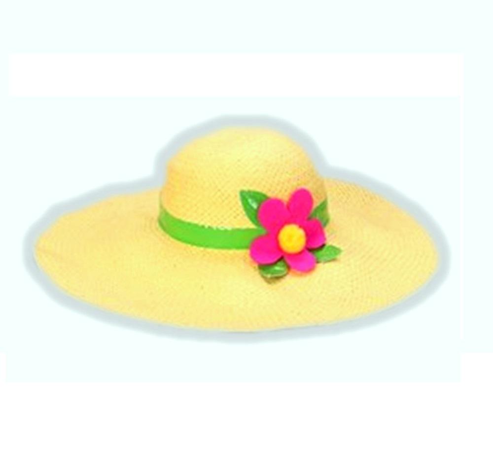 bcb041e4cc37f Princess Paradise Flower Hippie Girl Floppy Hat Yellow Costume ...