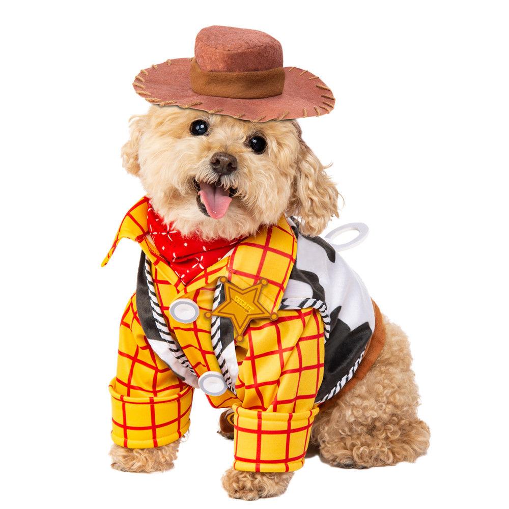 Details about Rubie\u0027s Disney Toy Story Woody Pet Costume Cowboy Dog Cat  SM,XL