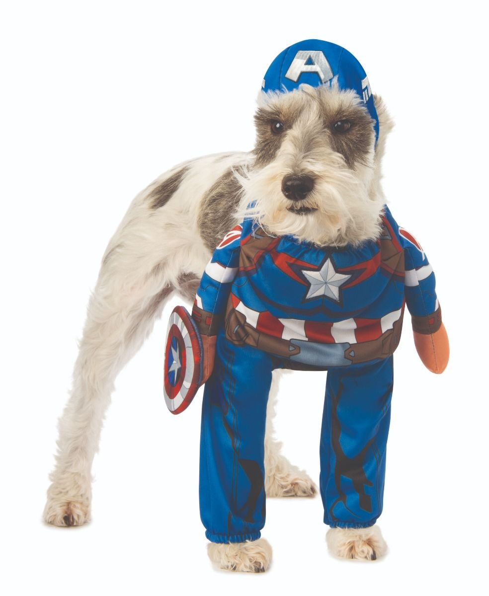 Walking Marvel Comics Captain America Pet Dog Costume Clothes Dress Up Sm Xxl Ebay Coming soon to disney+, pick up shirts and funkos featuring both wanda maximoff and vision in their respective. ebay