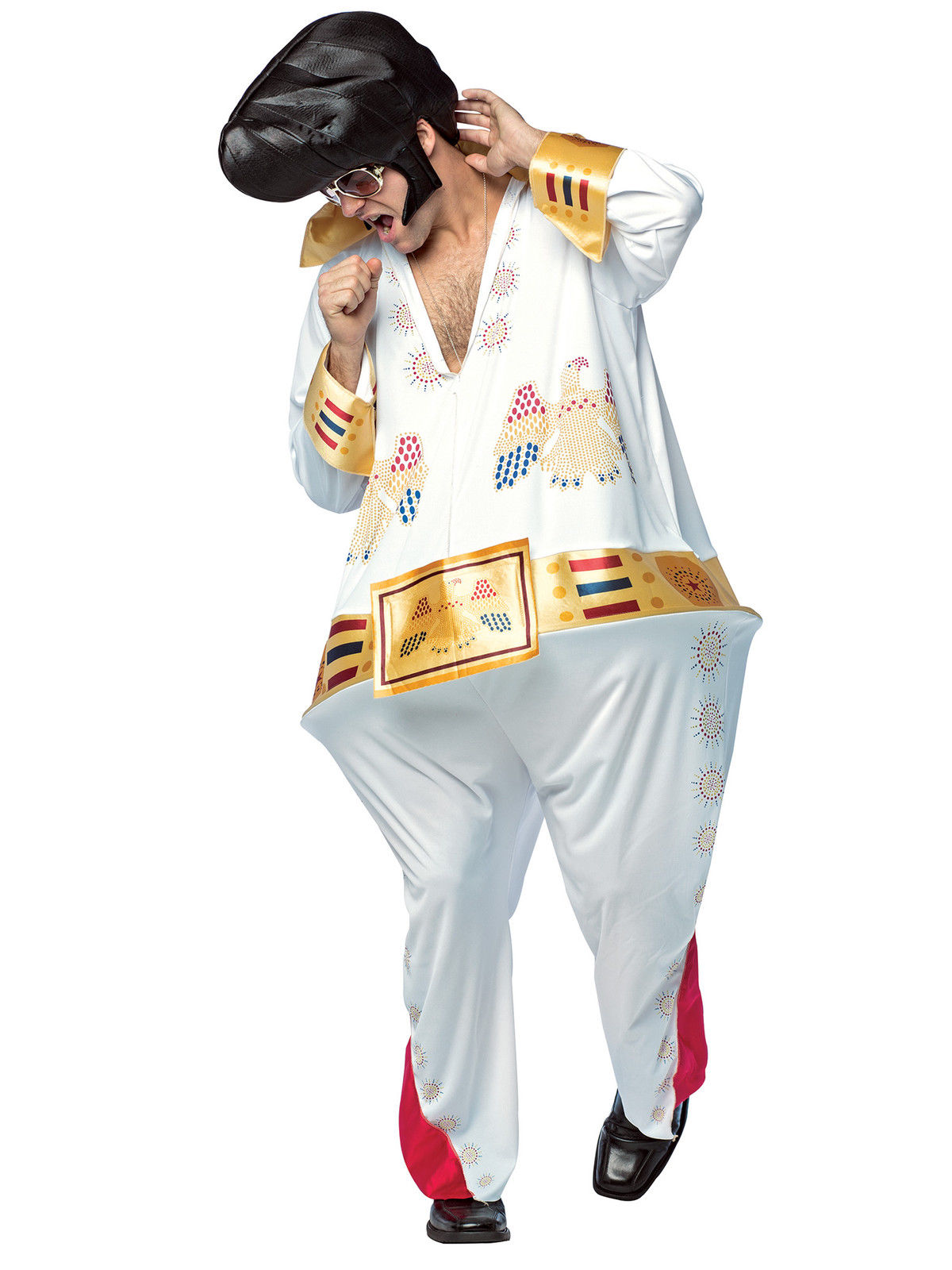 The King Hoopster Halloween Costume Men Rock and Roll Jumpsuit Std Elvis Style