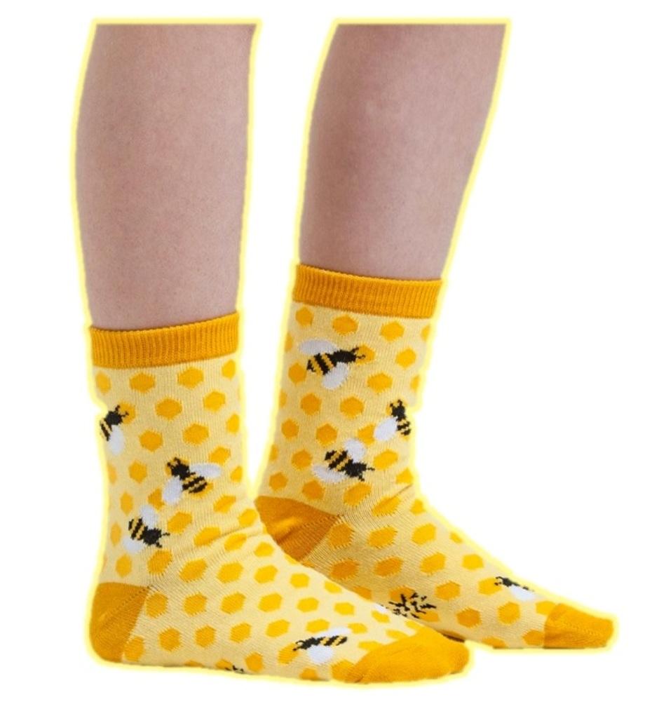 Printing Geometric Graphics Socks Sausage Sea Wave Bees Unisex Hip Hop Socks