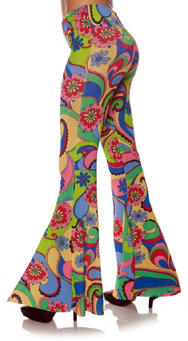 87ba1fc204 70 s Flower Power Costume Bell Bottoms Hippie Flare Pants Adult ...