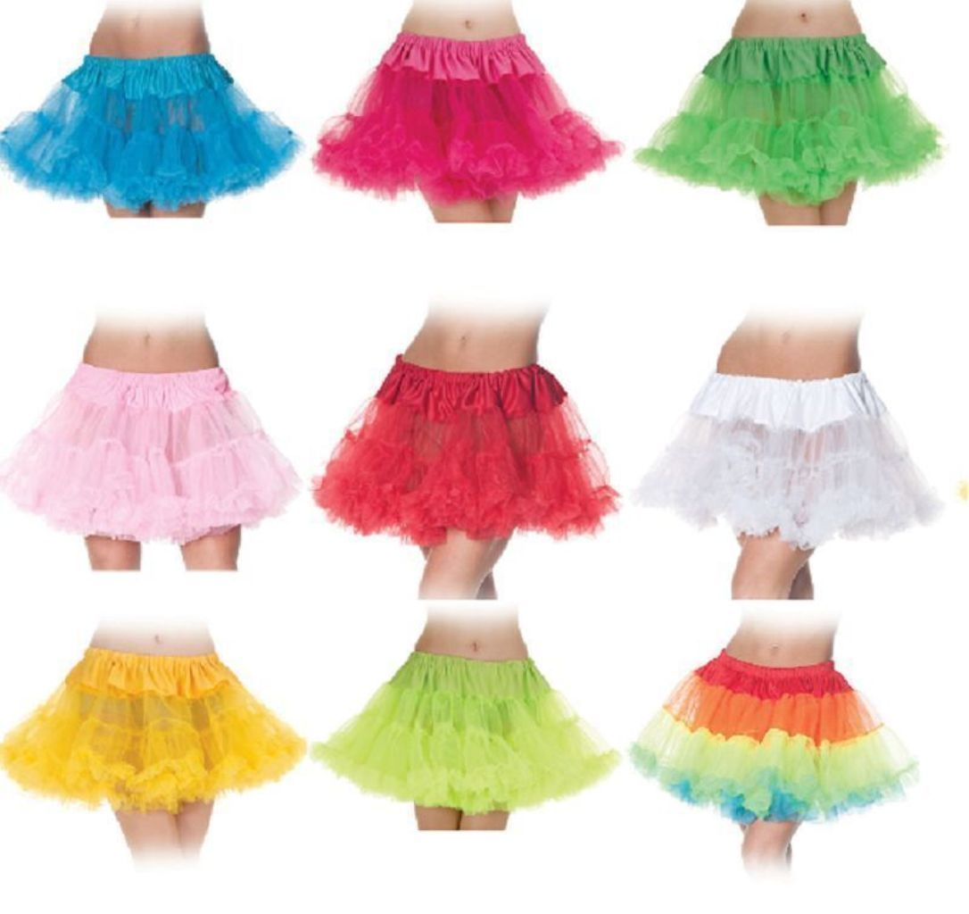 Details About Tutu Skirt Ballerina Adult Womens Costume Crinoline 80 S Rave Disco Neon Colors