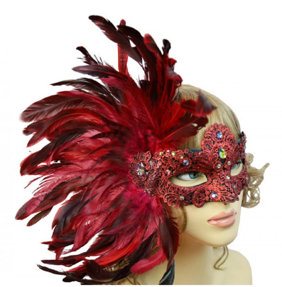 Costume RED Dress Up New Lace Domino Half Mask Halloween mask Masquerade