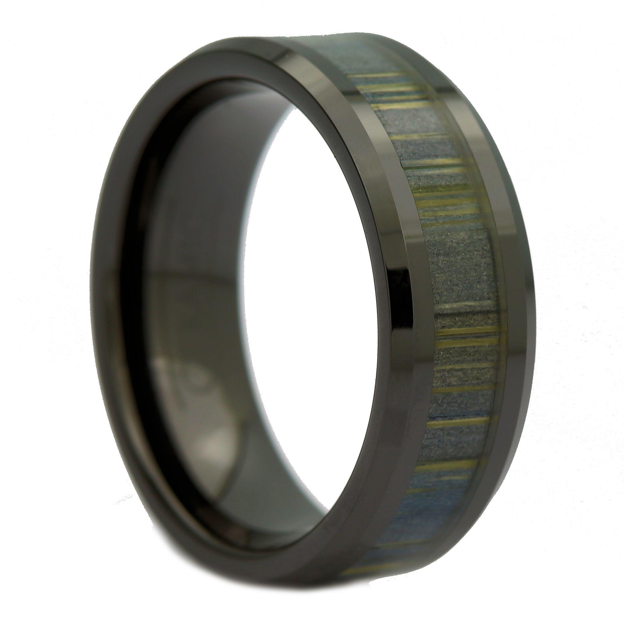 8mm Black Ceramic Ring Inlay Made From Zebra Wood Wedding Band: Wood Wedding Band Made At Websimilar.org