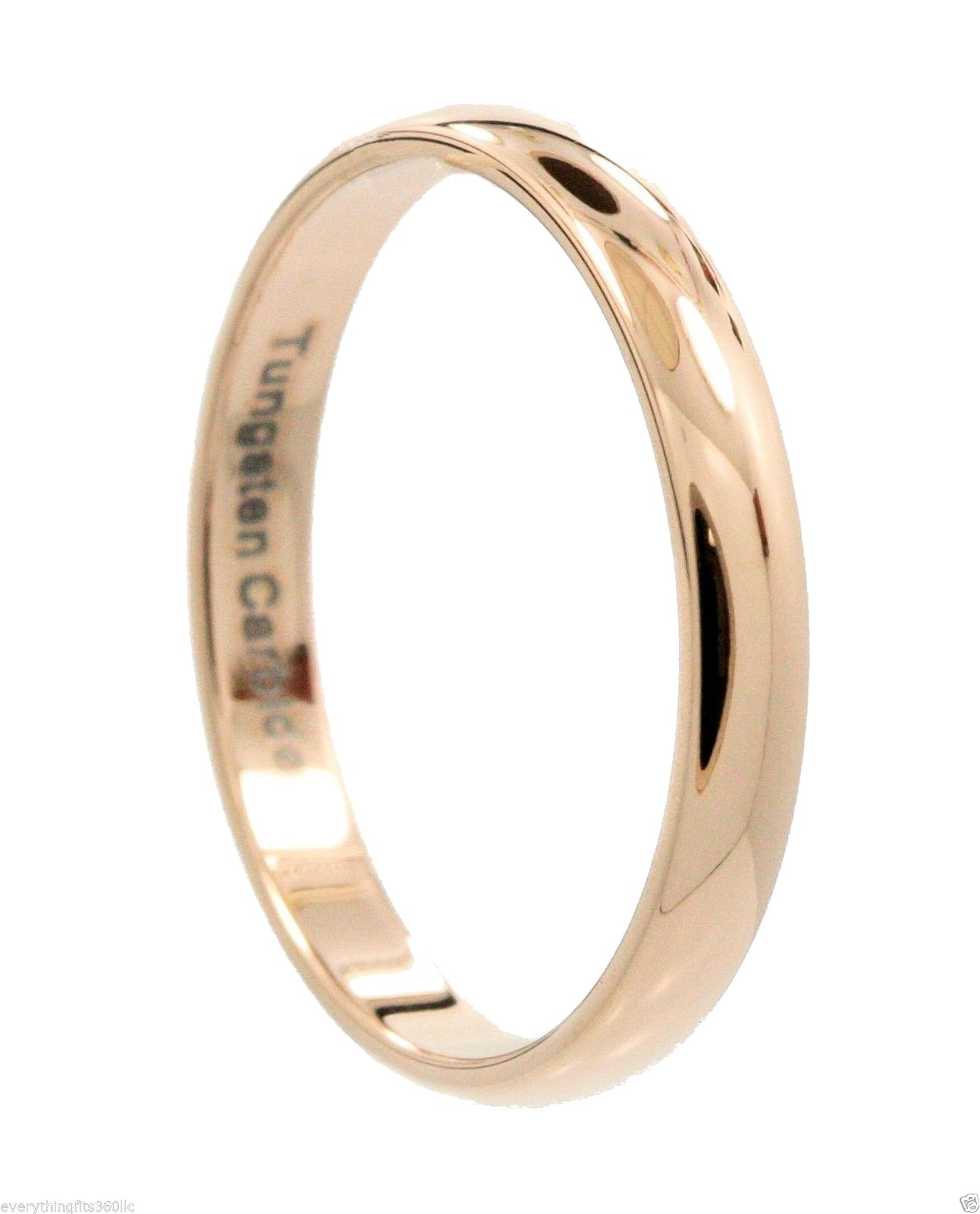 2-3-4-or-6mm-Rose-Gold-Plated-Ring-Tungsten-Carbide-Wedding-Band thumbnail 5