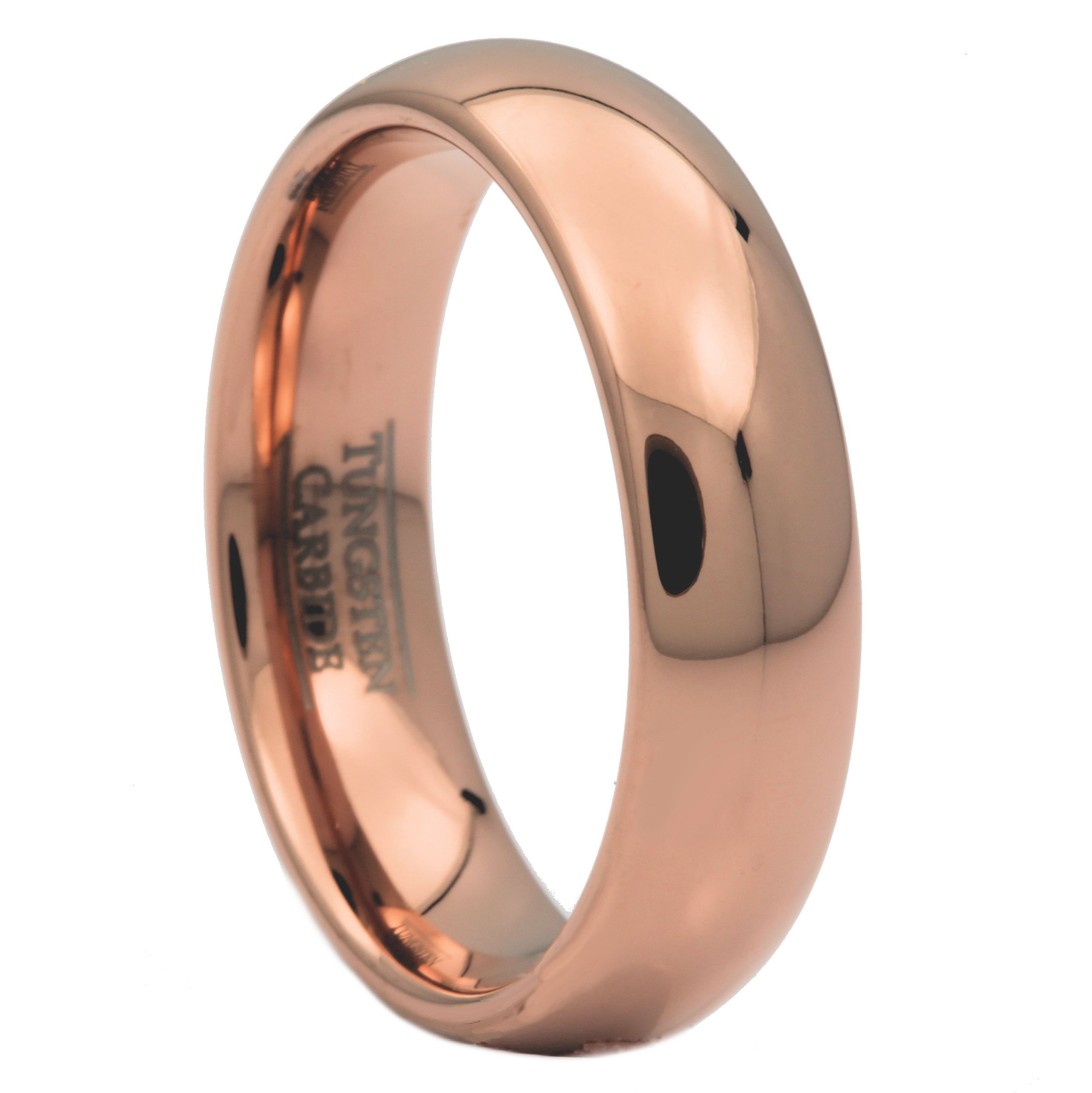 2-3-4-or-6mm-Rose-Gold-Plated-Ring-Tungsten-Carbide-Wedding-Band thumbnail 7