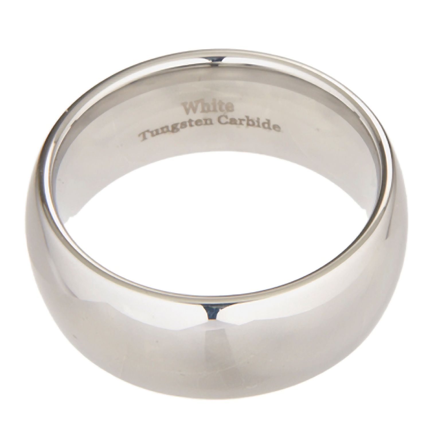 3mm-10mm-White-Tungsten-Carbide-Polished-Wedding-Ring thumbnail 10