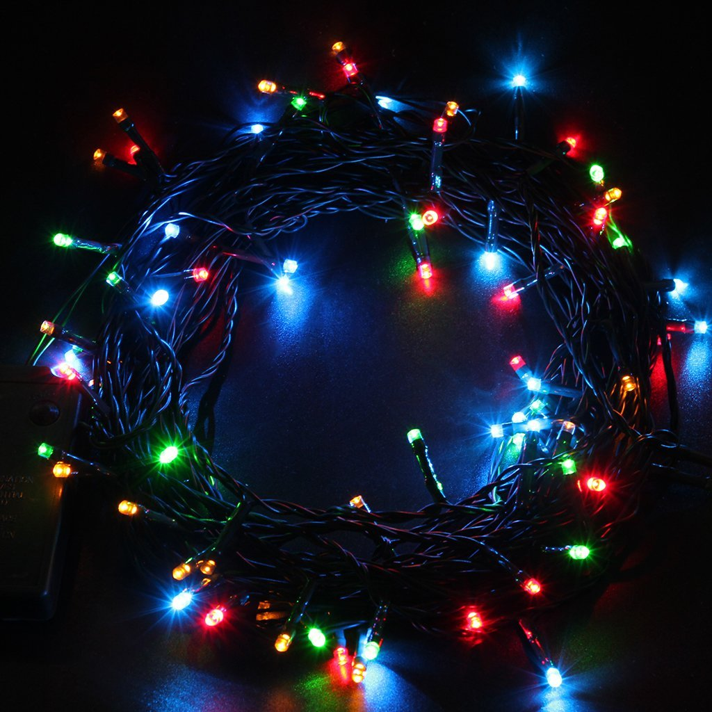 10m 40m 72 300 led outdoor battery operated 8 action timer christmas fairy light. Black Bedroom Furniture Sets. Home Design Ideas