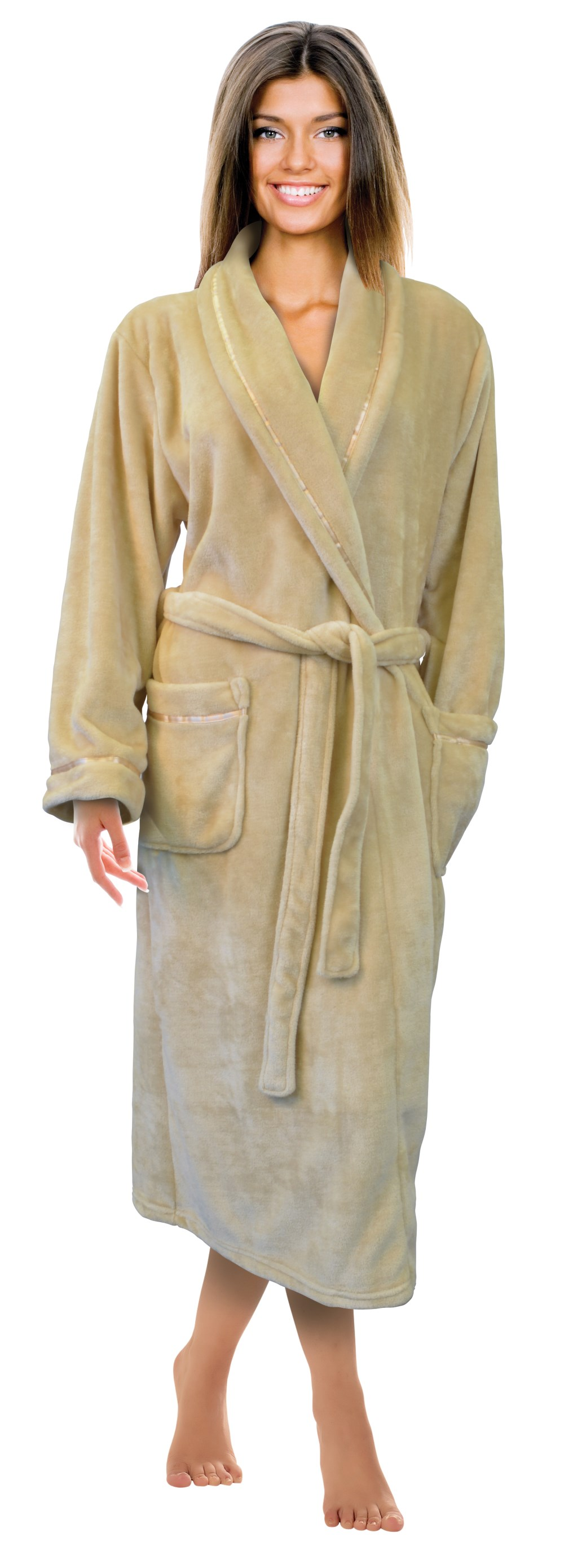 As perfect for chilly mornings as it is for cozy evenings in front of the fire, the Plush Signature Robe is truly a pampering bathrobe. Made of delicate superfine microfiber, this plush microfiber robe is softer than those offered at five-star hotels and spas. Lose yourself in /5().