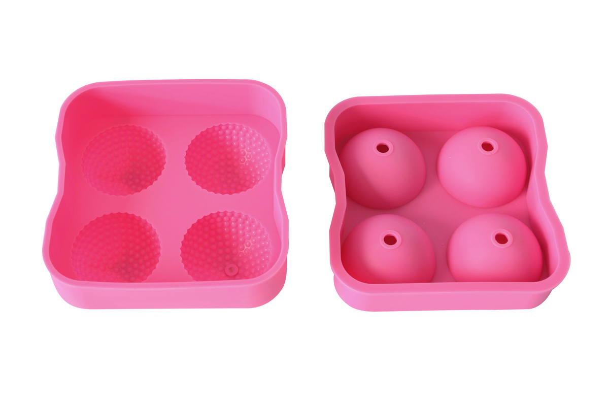 Xl Golf Shape Sphere Round Ice Ball Maker Tray Large