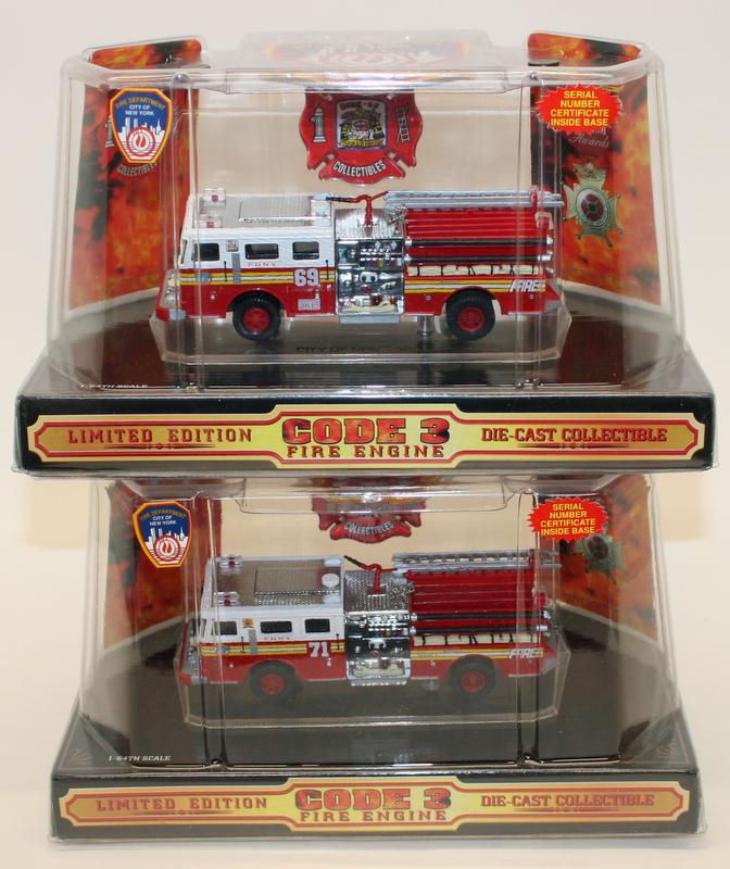 Code 3 Collectibles 164 Scale 12208 Fdny Centennial Set Of 2 Fire
