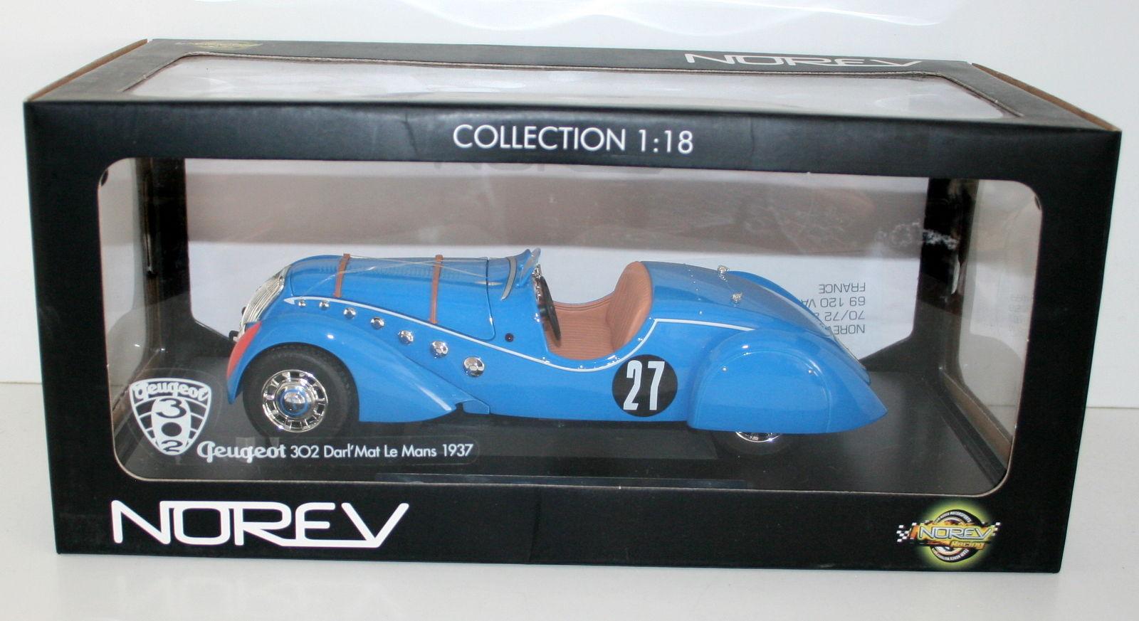 Norev 1   18 184702 peugot 302 liebling  matte roadster - 1937