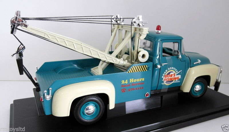 WELLY-1-18-19834W-1956-FORD-F-100-TOW-TRUCK-BOBS-TOWING