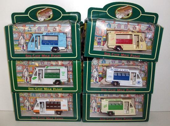 PAPILLION TOYS 1 43 - SET OF SIX MILK FLOATS VARIOUS DAIRY'S