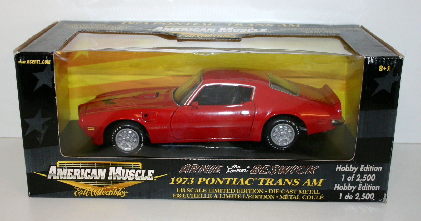 Ertl American Muscle 1 18 36682 1973 Pontiac Trans Am Arnie Scale Diecast Model By