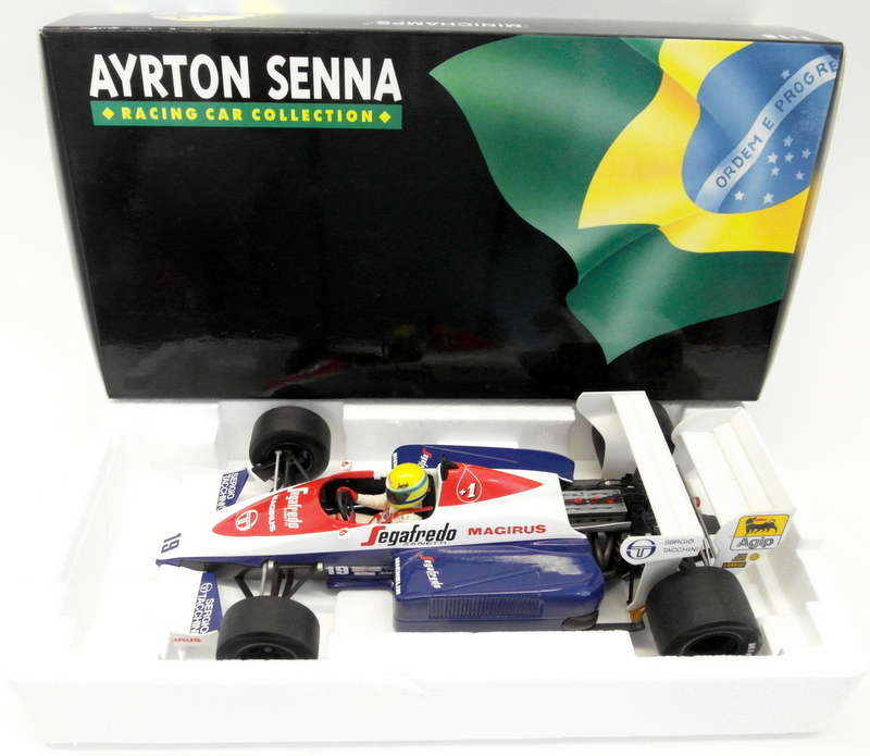 Minichamps 1 18 Scale Diecast 540 841899 Toleman Hart TG184 Ayrton Senna 1984  | New Products