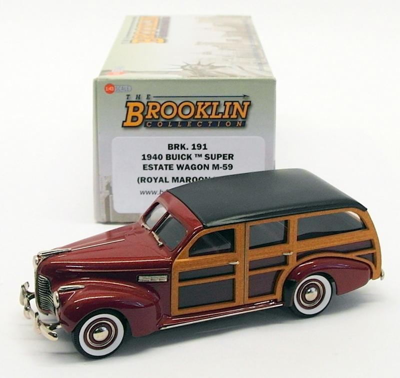 Brooklin Models 143 Scale Brk191 1940 Buick Super Estate Wagon M