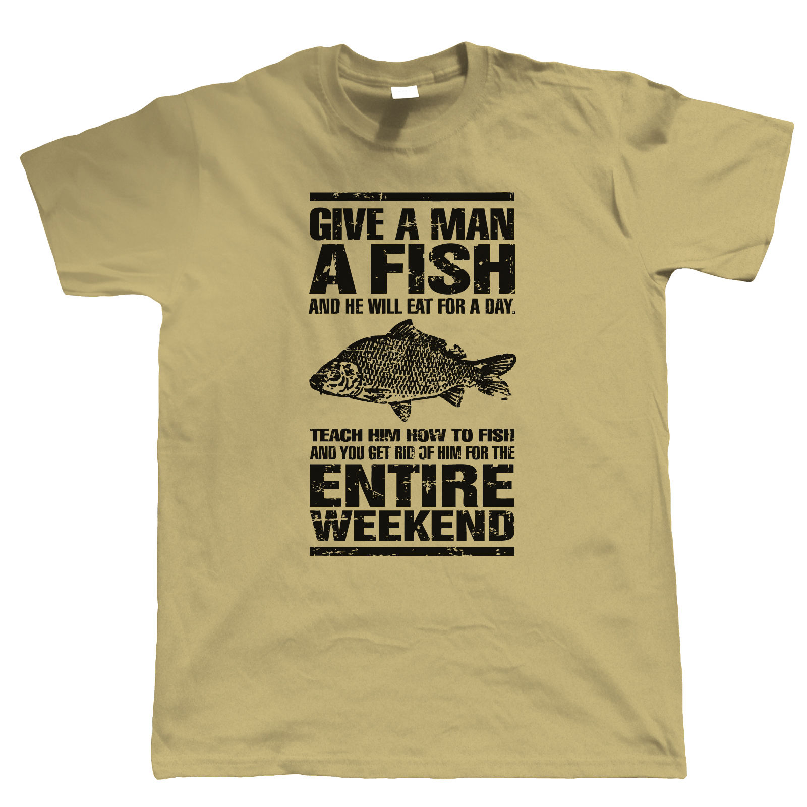 Give a man a fish funny carp fishing t shirt angling for Funny fishing t shirts