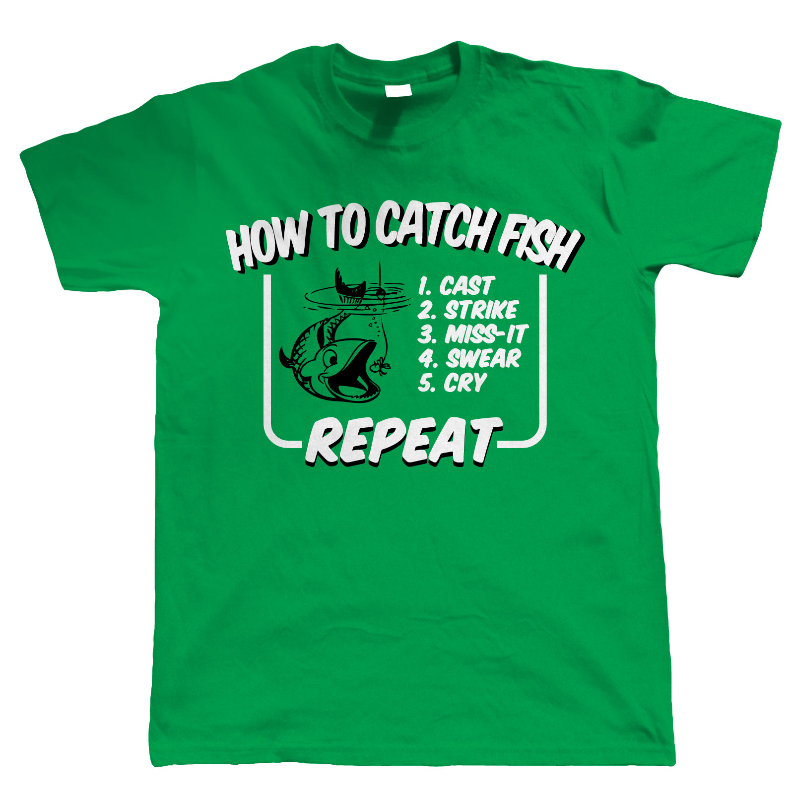 How to catch fish mens funny fishing t shirt gift for for Funny fishing t shirts