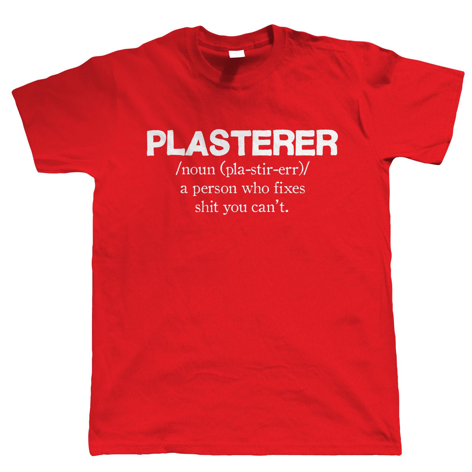Funny Christmas Gift Part - 30: Plasterer-Mens-Funny-T-Shirt-Christmas-Gift-for-