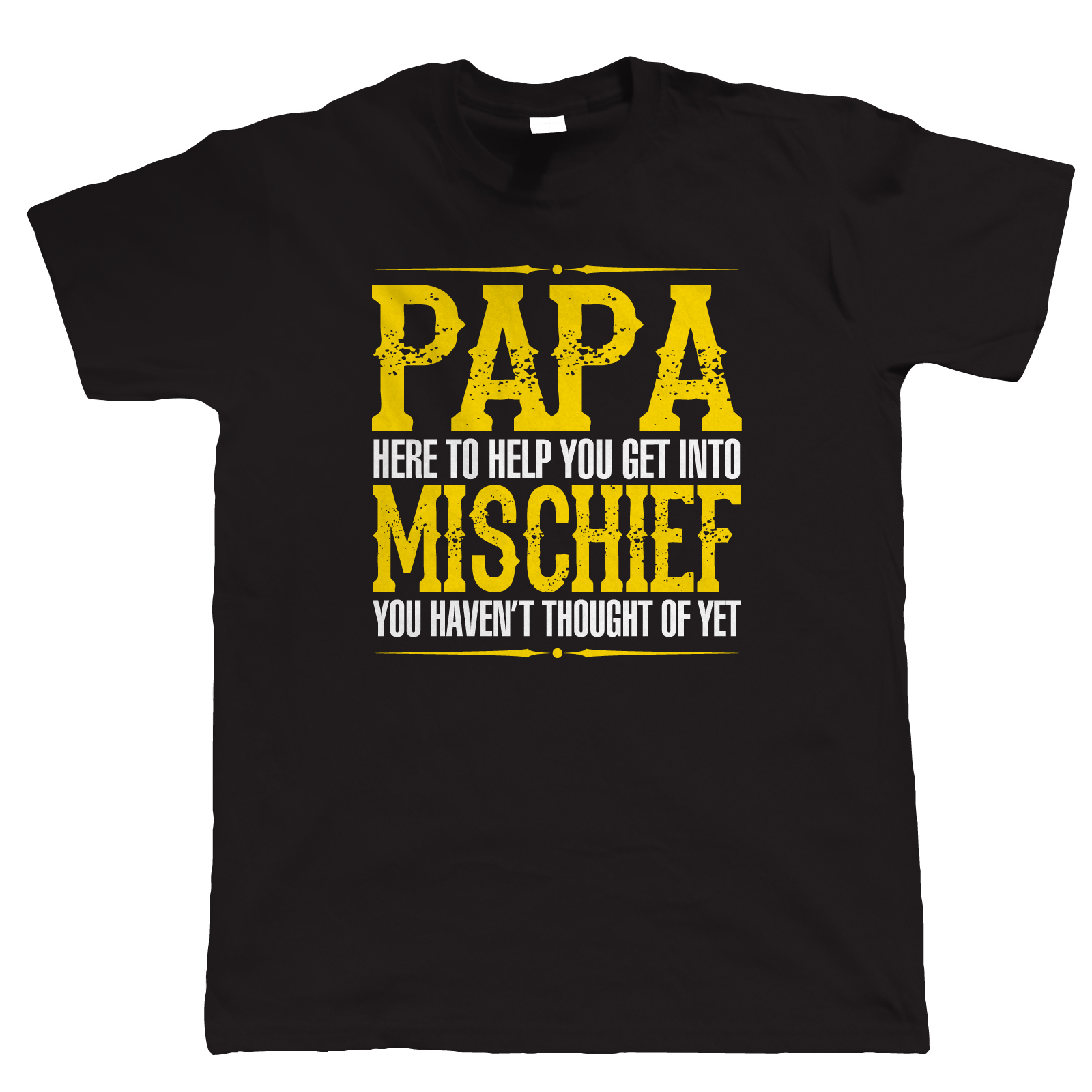 Papa Mischief Mens Funny T Shirt Fathers Day