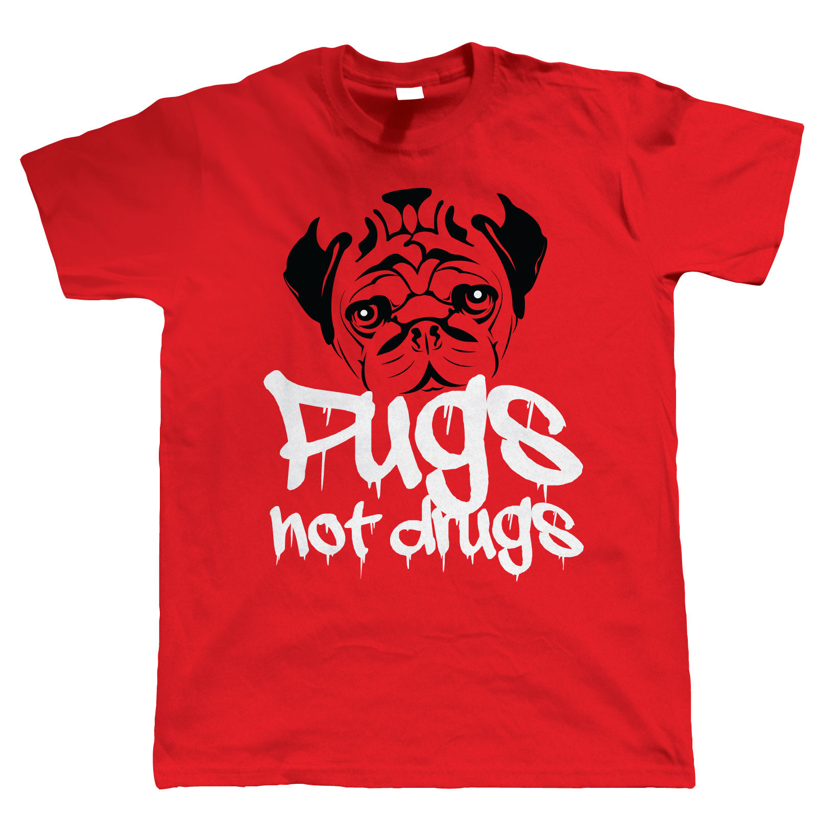 Pugs-Not-Drugs-Funny-Mens-T-Shirt