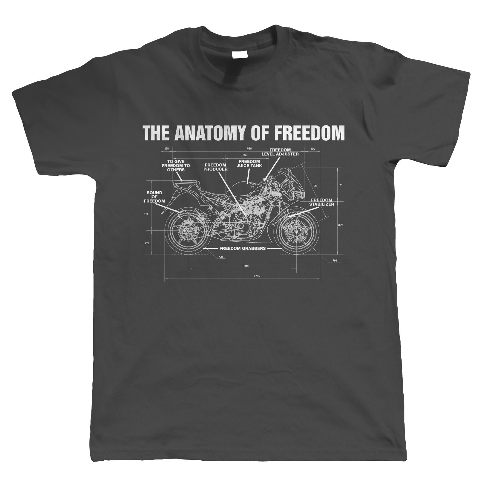 Anatomy Of Freedom Mens Biker T Shirt - Superbike MotoGP TT Gift for ...