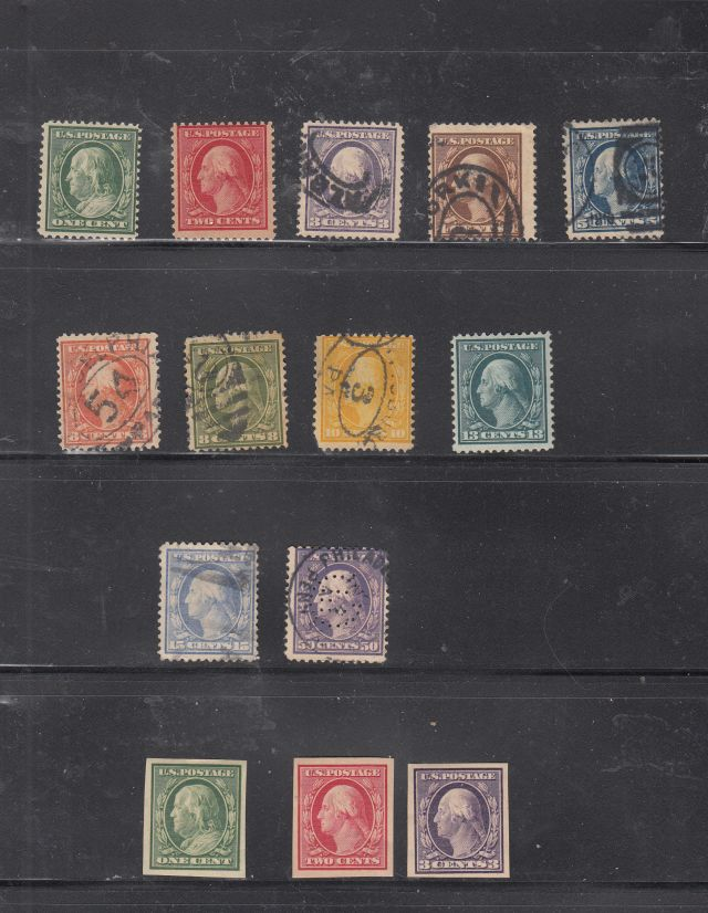 129189 - oldhal-Perf 12 Set from 1908-9 plus the Imperf- Mint/Used