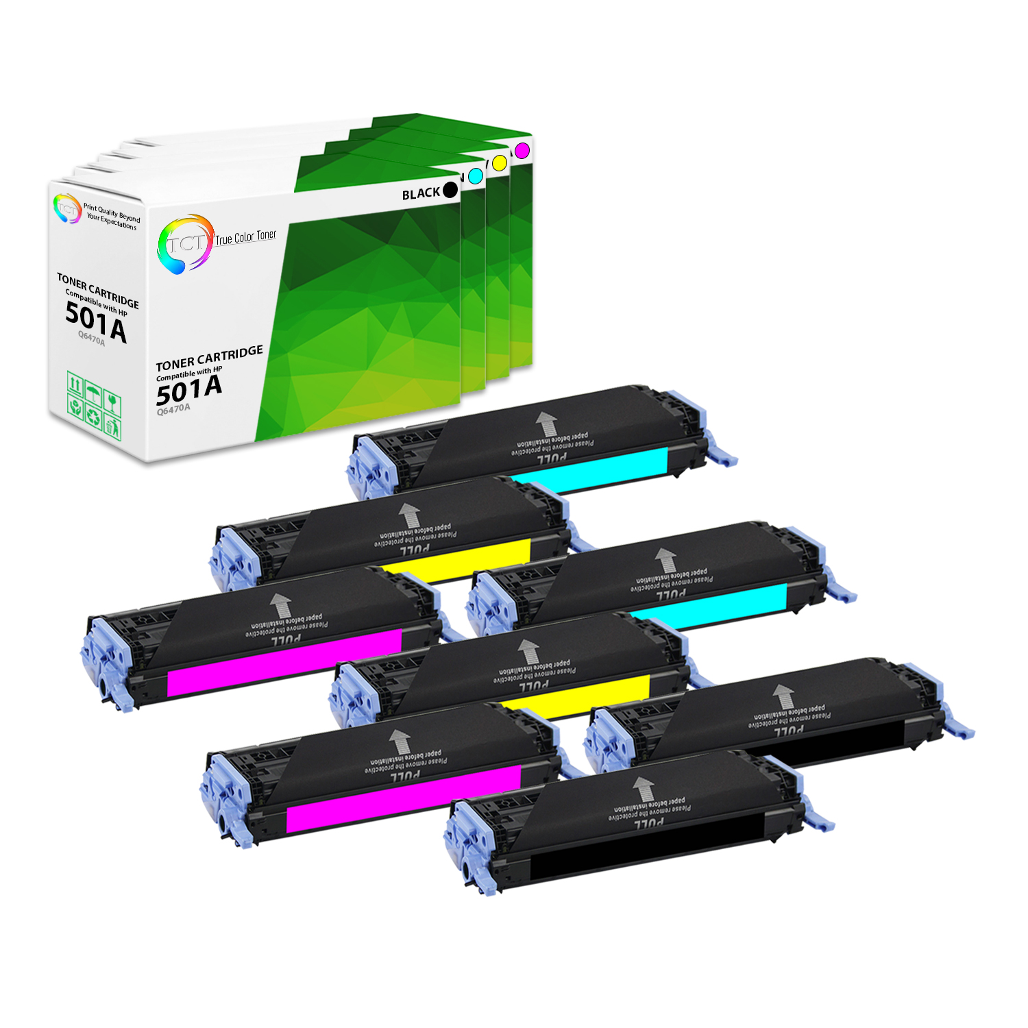 GENUINE HP Q6470A 501A BLACK TONER CARTRIDGE LASER JET 3600 BRAND NEW