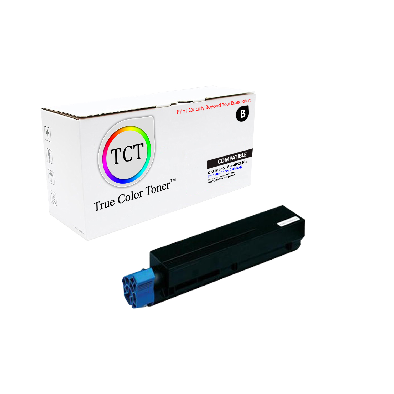 2Pk TCT 44992405 Okidata MB451 MB451w MFP Oki Compatible Toner Cartridge