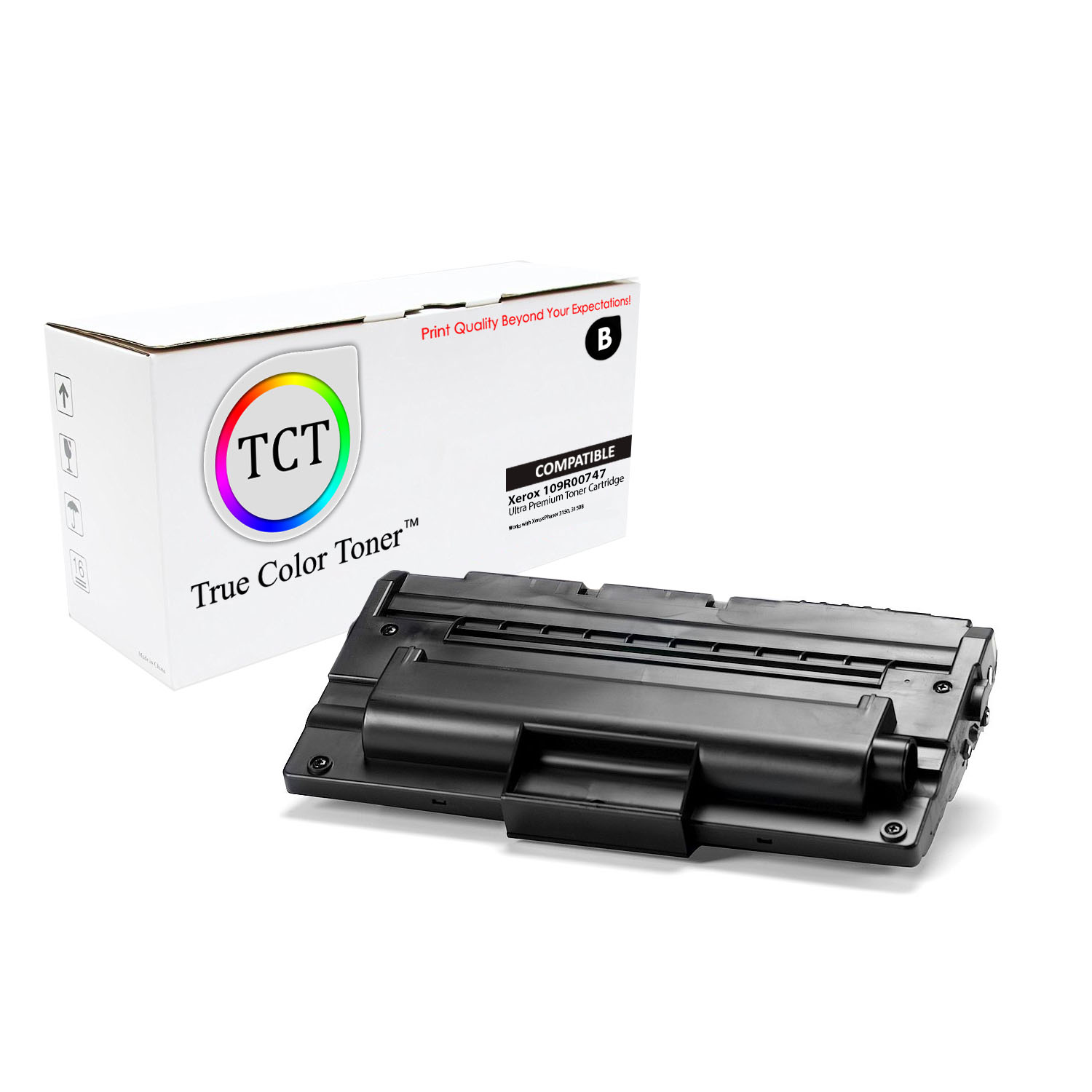 Genuine Original XEROX 109R00747  Black  Toner Cartridge NEW CARTRIDGE