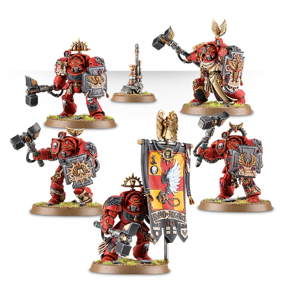 Warhammer 40k Blood Angels: Warhammer 40k BLOOD ANGELS TERMINATOR ASSAULT SQUAD GWS 41