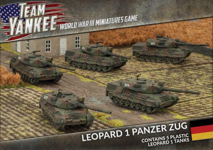 Team Yankee Leopard 2 Panzer Zug Battlefront Miniatures