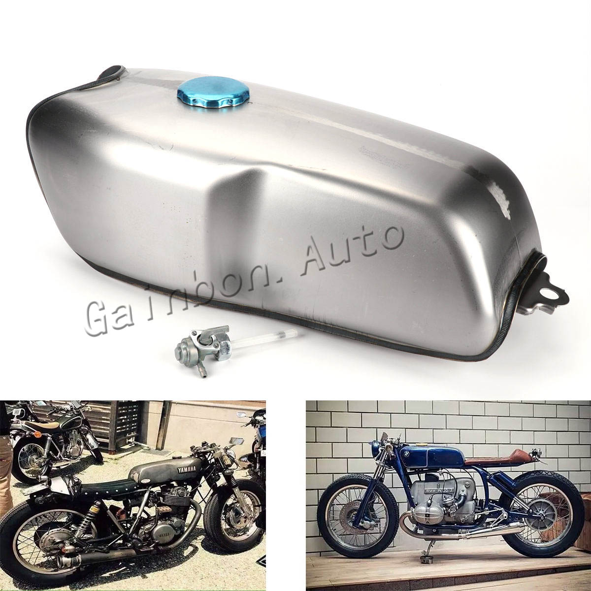 9l / 2.4 gallon universal custom cafe racer gas fuel tank for